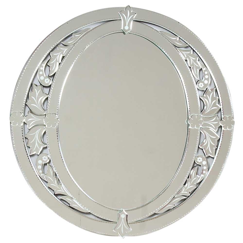 IndianShelf Handmade Vintage Decorative New Design Glass Wood and Iron Traditional Oval Venetian Styled Mirror