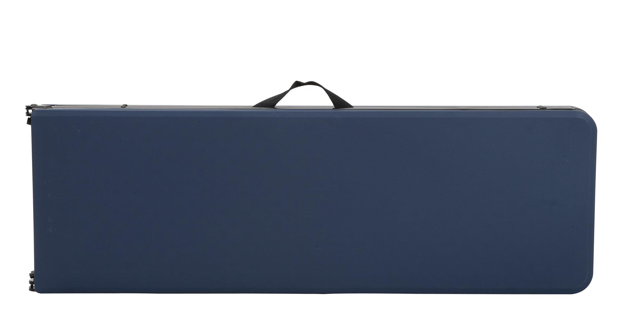 COSCO 6 ft. Indoor Outdoor Center Fold Tailgate Bench with Carrying Handle, Dark Blue Bench Top, Black Frame, 2-pack by Cosco Outdoor Living (Image #5)