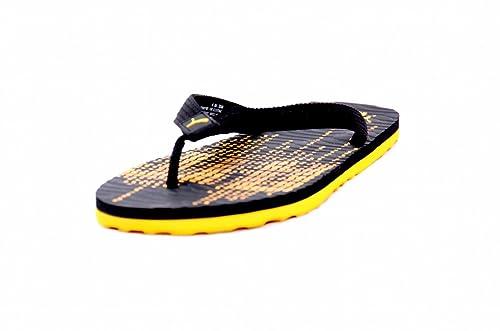 d67550dbb Puma Men Black Yellow Animatrix II DP Flip Flops 36136407  Buy Online at  Low Prices in India - Amazon.in