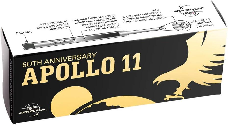 Special Edition Apollo 11 50th Anniversary Matte Black Bullet Space Pen w//Gold Finger Grip /& Pocket Clip