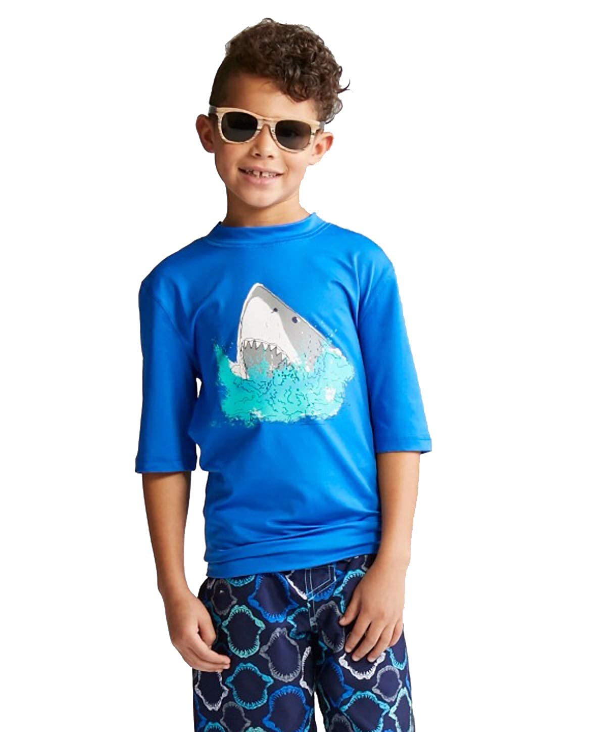 Cat /& Jack Boys Short Sleeve Rash Guard-Variety