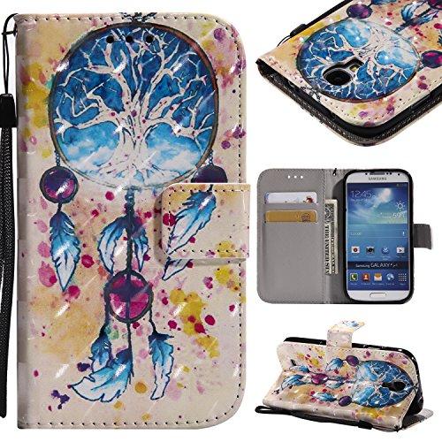 Magnetica Case Copertura Galaxy S4 Caso Porta Hut In Di Chiusura Flip Samsung Porta Portafoglio Pelle Funzione Cover Campanula Visita Da Globo Colore Ragazza Stand E Carte carte Con Cozy Albero wZYBx
