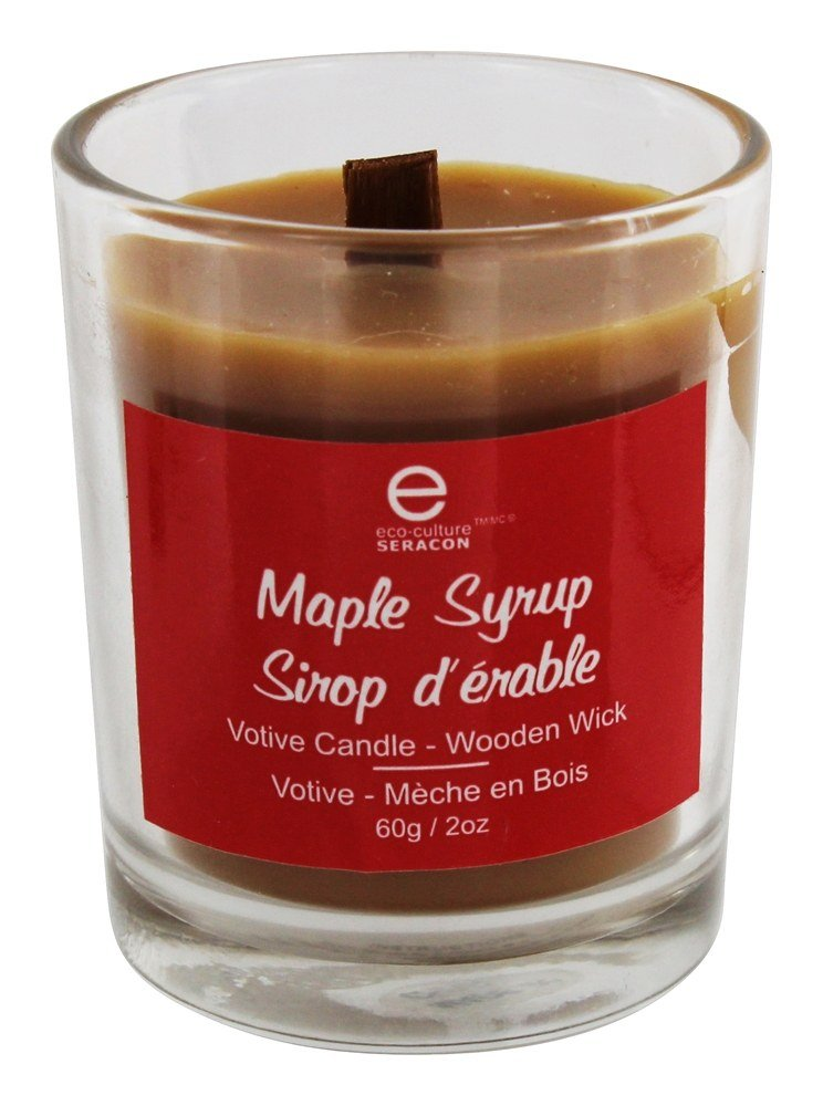 Seracon - Votive Candle Wooden Wick Maple Syrup - 2 oz.