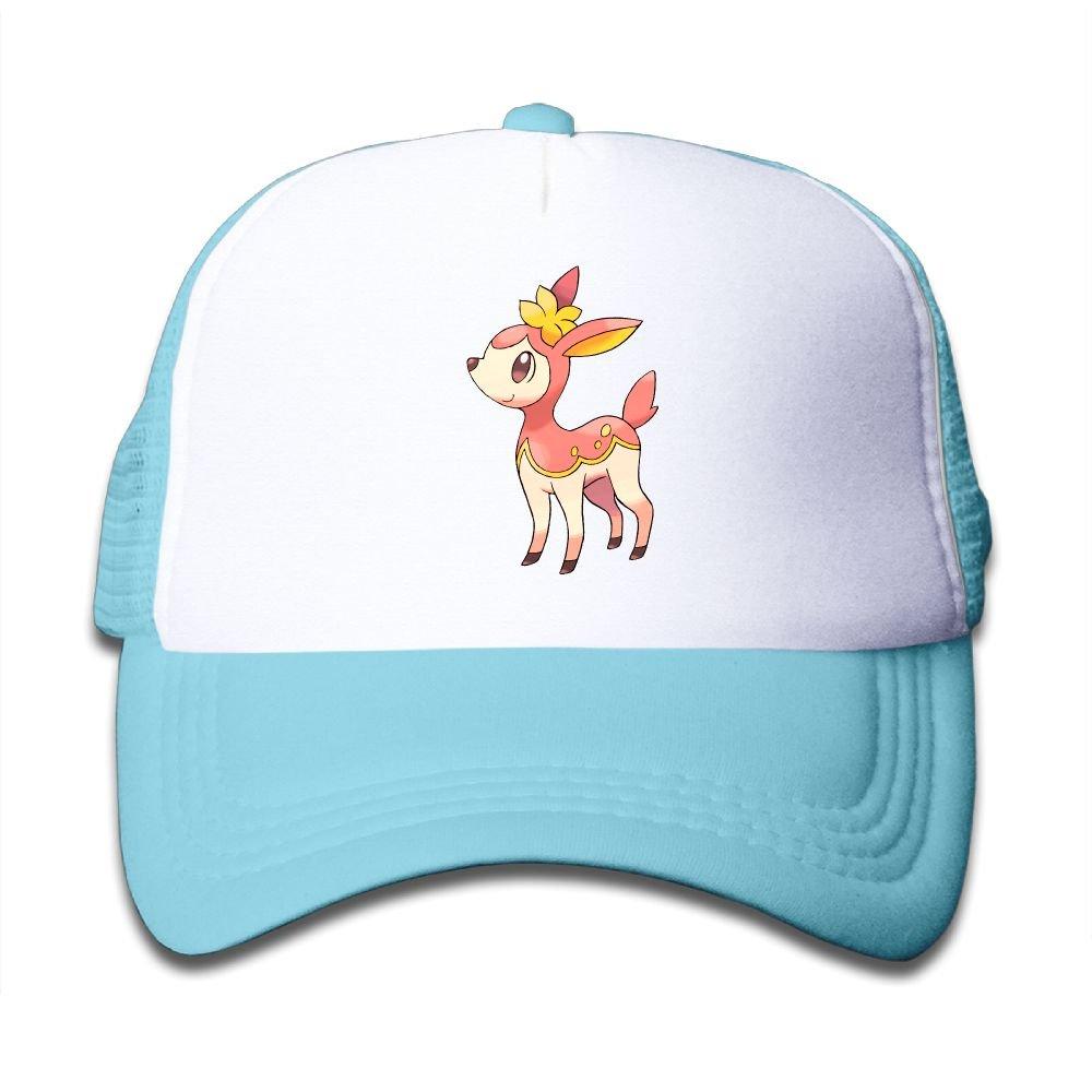 Tazprab Pokemon with Flowers Kids Mesh Trucker Cap Hat Adjustable Baseball Caps