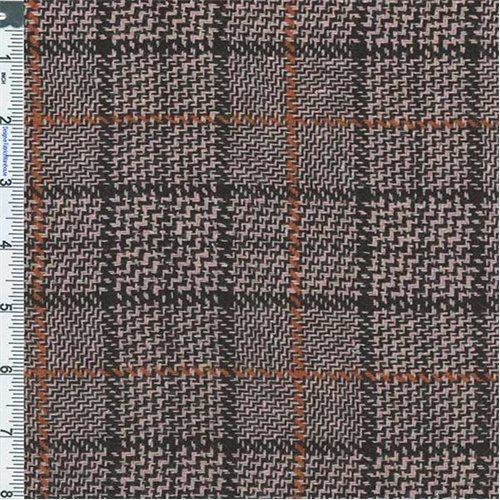 Black/Glamour Plaid Wool Suiting, Fabric By the (Wholesale Wool Fabric)