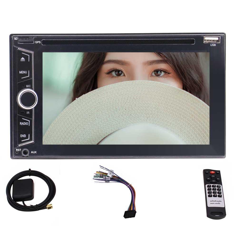 高解像度プレイヤーサポートのBluetooth / FM AM RDS /ファイブタッチ容量性スクリーン/ TF / USB、贈り物として8ギガバイト地図カード+リアカメラと6.2インチウィンス8.0カーステレオダブル2ディンAutoradioカーPC DVD CD静電容量タッチスクリーン。 B079K5WDM8