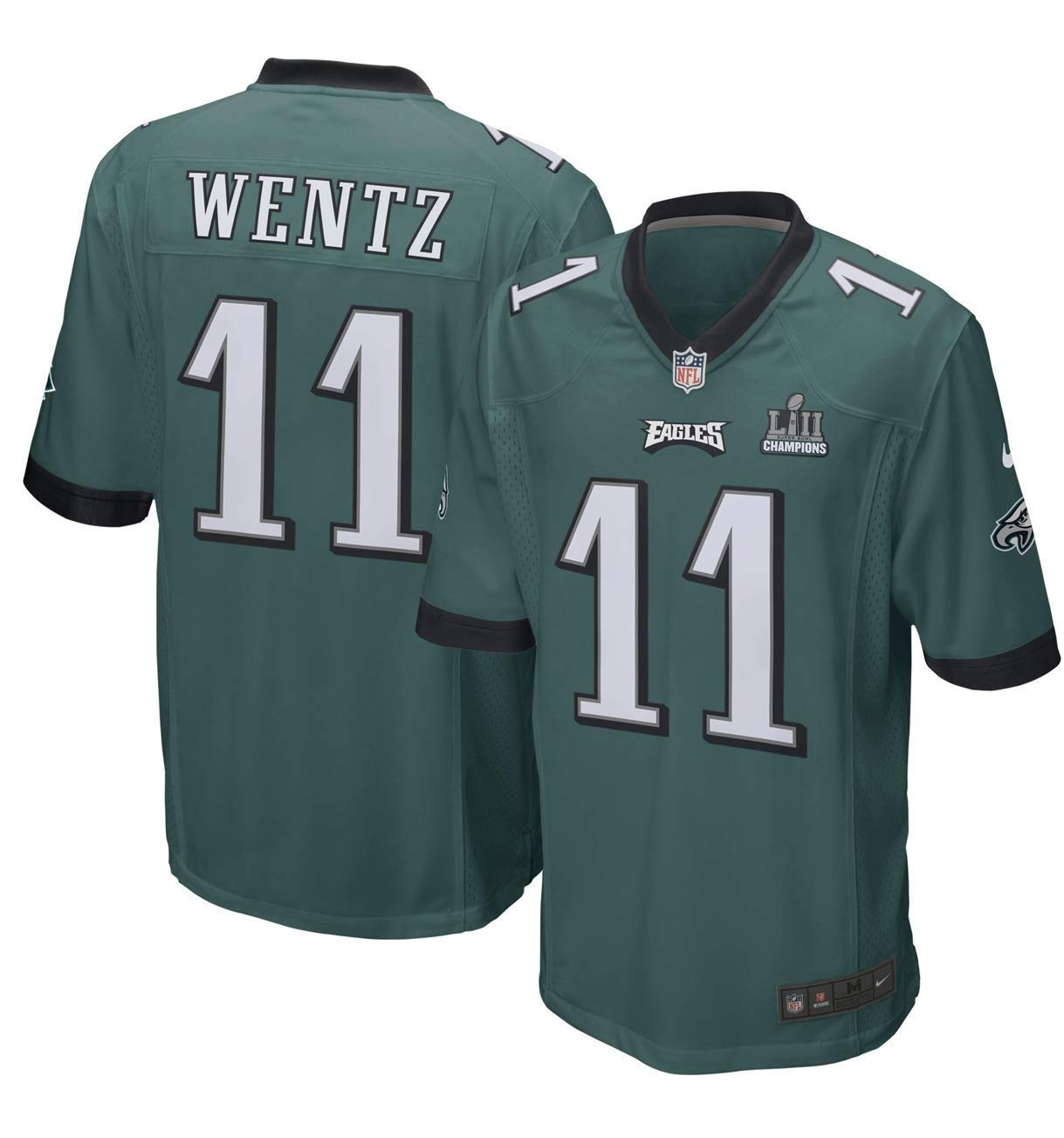 Amazon.com   NIKE Carson Wentz Philadelphia Eagles Men s Super Bowl LII  Champion Patch Game Jersey - Midnight Green (3XL)   Sports   Outdoors e5dad3471