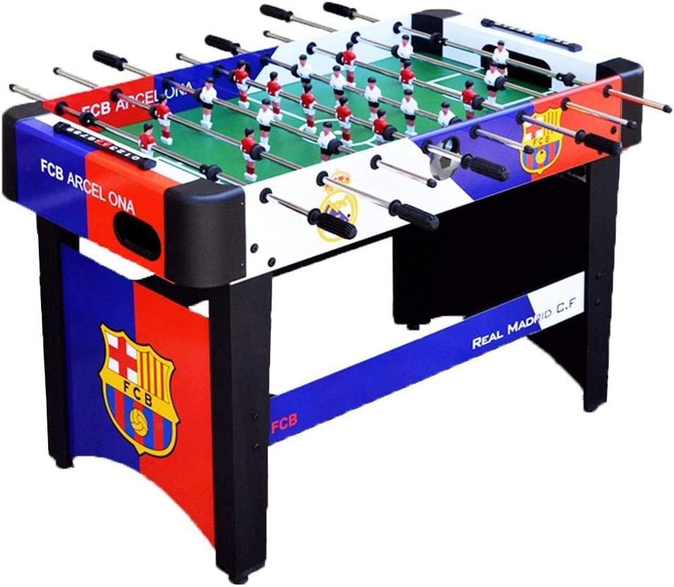 Futbolines Recuerdos de Juguete de Mesa Fútbol máquina de Escritorio Boy Adult Entertainment Doble de Madera for niños (Color : Blue, Size : 120 * 60 * 80cm): Amazon.es: Hogar
