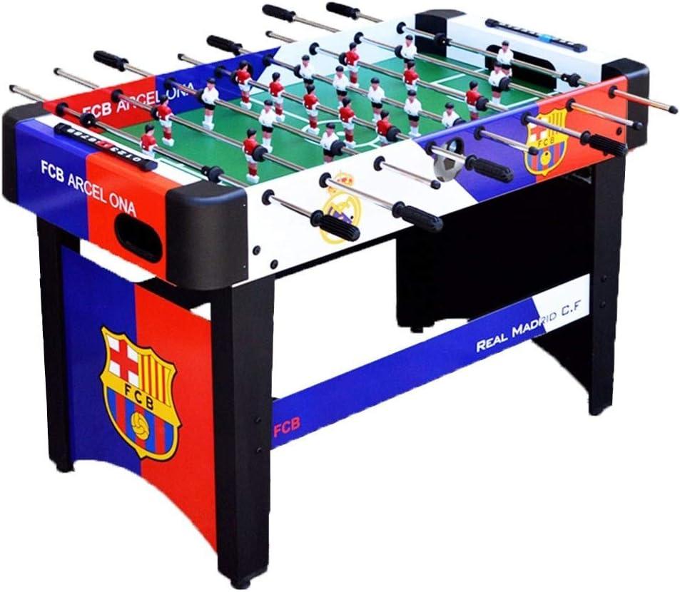 Futbolines Recuerdos de Juguete de Mesa Fútbol máquina de Escritorio Boy Adult Entertainment Doble de Madera for niños (Color : Blue, Size : 120 * 60 * 80cm): Amazon.es: Hogar