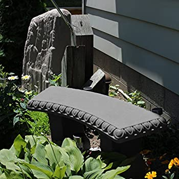 "EMSCO Group Garden Bench – Natural Granite Appearance – Made of Resin – Lightweight – 12"" Height"