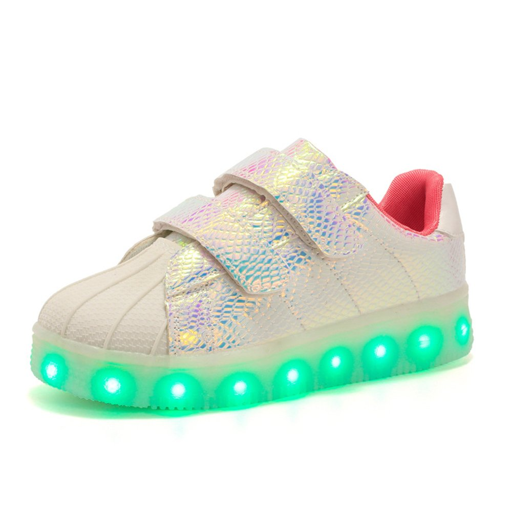 Man's/Woman's Boys Girls 16 Colors LED Light Light Light Up Running Shoes for Kids USB Flashing Sneakers Light Shoes Innovative design Preferred material Characteristics NG2540 73350c