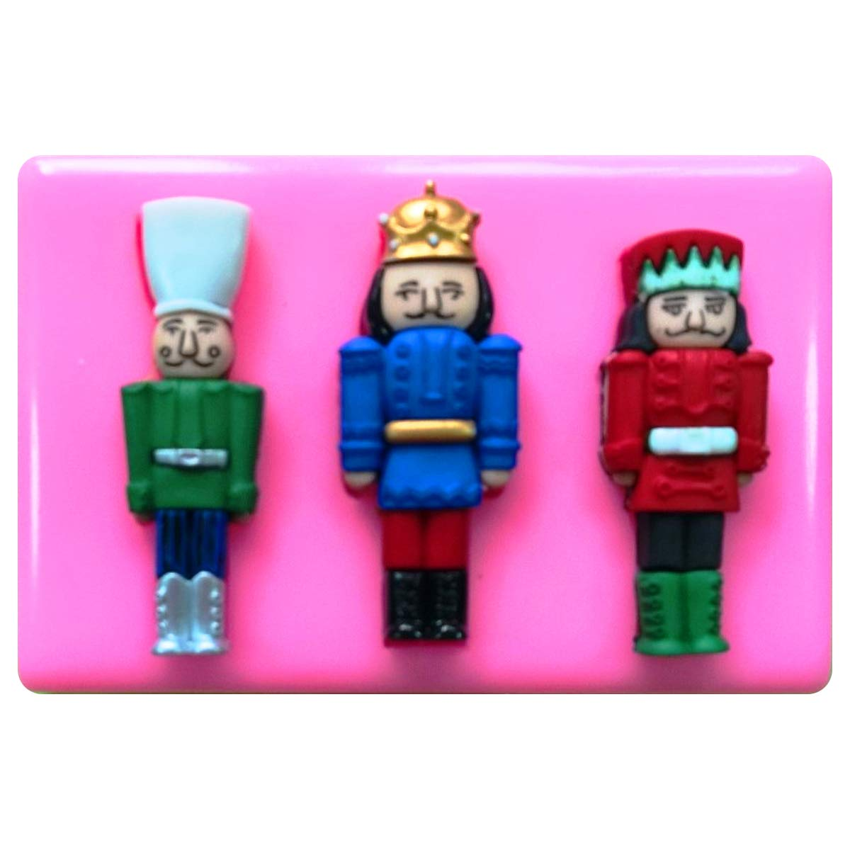 Christmas Vintage Nutcracker Silicone Mould Mold for Cake Decorating Cake Cupcake Toppers Icing Sugarcraft Tool by Fairie Blessings