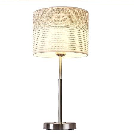Table lamp lámpara de Mesa Escritorio Redonda Lino Rayas Hierro ...