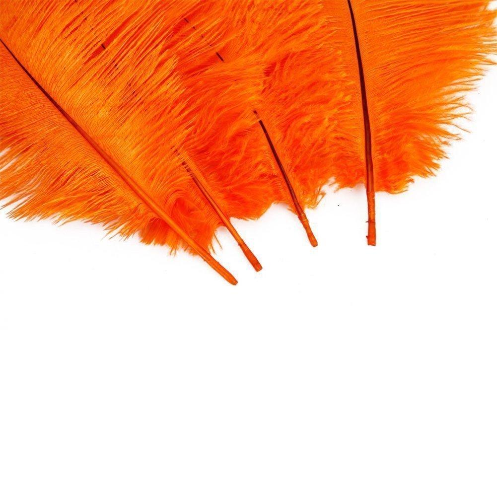 15-20cm f/ête d/écoration maison mariage Butterme 10pcs r/éel naturelles plumes dautruche grandes plumes pour les chapeaux
