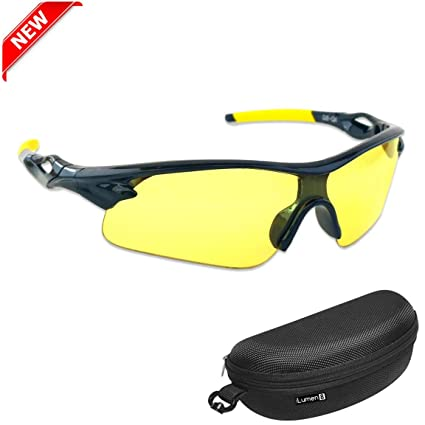 36d9d590c1 iLumen8 Best Shooting Glasses UV Blacklight Flashlight Yellow Safety Eye  Protection See Dog Cat Urine with