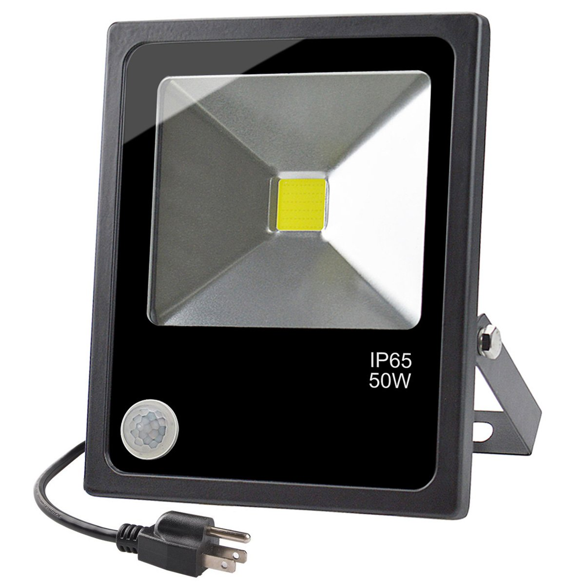 Motion Sensor LED Outdoor Security Flood Light,50W Daylight White IP65 Waterproof Lights,4500 Lumen,250W Hps Bulb Equivalent,for Parking Lots,Gardens,Warehouses by GLW