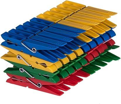Wäscheklammern 160 x Plastik Klammern Wäscheklammer Kunststoff bunt Zwicker