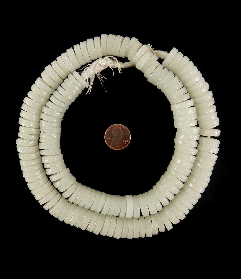 Krobo Beads Anillos de cristal en polvo Ghana, África, 26 pulgadas ...