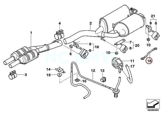 Amazon Com Bmw Genuine End Muffler Ground Strap Automotive