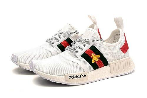 NMD R1 Gucci White Running Shoes Scarpe da Corsa Uomo Donna