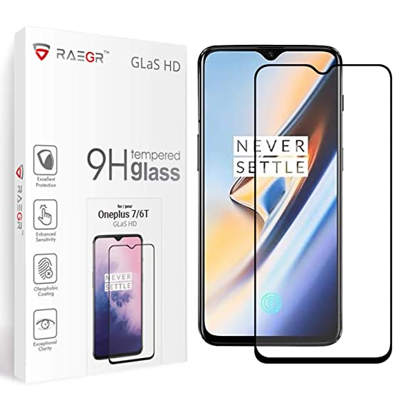 All In Glas.Oneplus 7 Oneplus 6t Tempered Glass Raegr Glas Hd 3d Full Cover Gummed Tempered Glass Compatible With Oneplus 7 Oneplus 6t Clear Rg10036 Pack