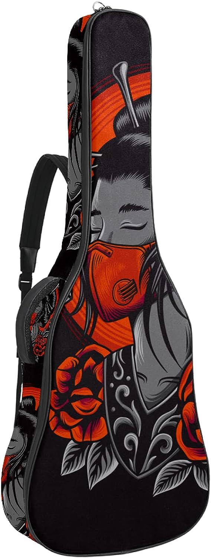 Funda de Guitarra Española Chica japonesa Bolsa Acolchada Para Guitarra Acústica con Asa de Transporte y Correa Para el Hombro 109x43x12cm