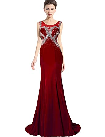 Belle House Mermaid Velvet Formal Evening Dress Celebrity Gown At