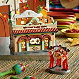 Department 56 Snow Village La Fiesta Restaurante Lit House, 7.48 inch