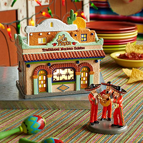 Department 56 Snow Village La Fiesta Restaurante Lit House, 7.48 inch by Department 56 (Image #1)