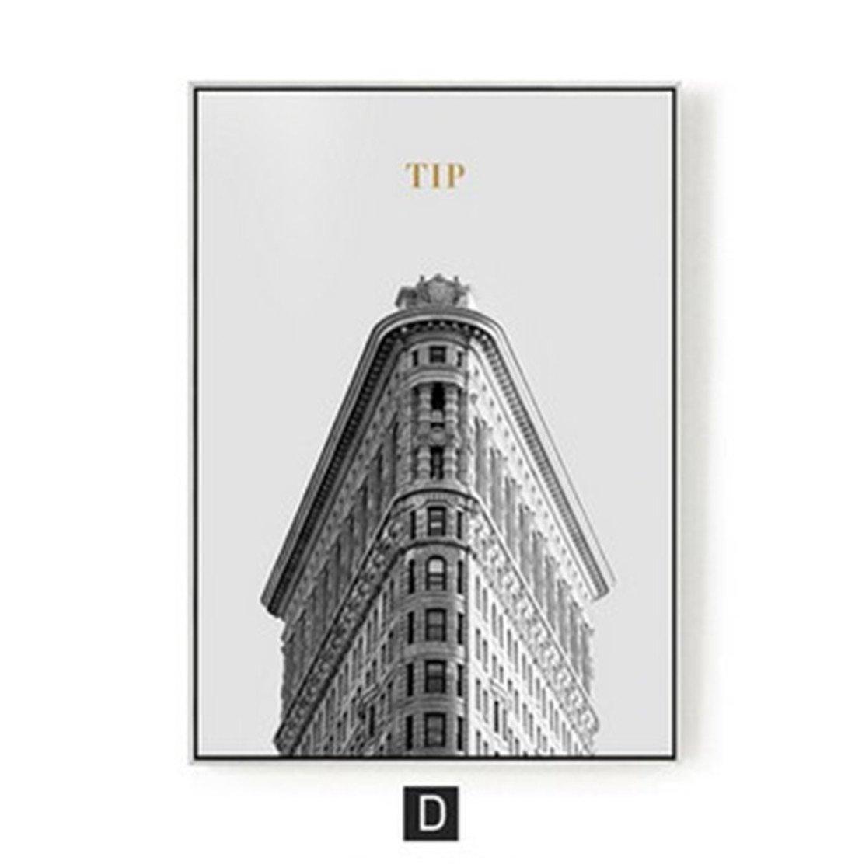 elige tu favorito D HONGLImoderna decoración de la la la Sala de EEstrella Minimalista Pintura Colgante de Parojo tríptico Oficina Mural Arquitectura de la Ciudad (43  63 cm), d  tomamos a los clientes como nuestro dios