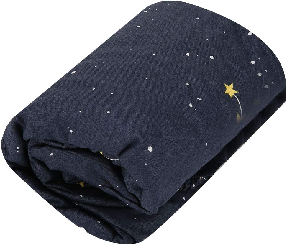 70 * 130 cm Recién nacido Algodón portátil Manta suave Envoltura Swaddle Herramienta para dormir Apoyos de fotografía Telón de fondo Cuna infantil Ropa de cama Funda de alfombra (Estrellas y oso)