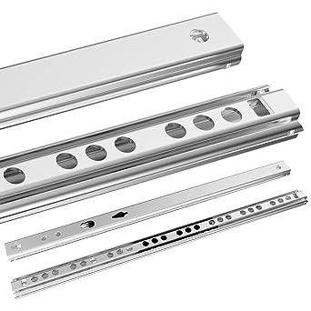 5 Paar Schubladenschienen Schubladenauszug Teilauszug 17 mm Kugelführung Auszug