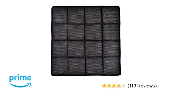 Kings deal (Tm) (17.5 x 17.5 inch) Bamboo Charcoal Breathable Seat Cushion for Office Car Chair Pad Mat (Black)