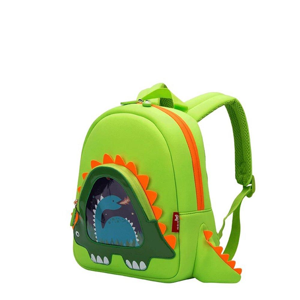 OFUN 3D Dinosaur Rucksack Kinder, Animal Rucksack Nursery Kleinkind Cartoon Jungen Mädchen Kinder Schultasche Niedliche Rucksack Grün N-1