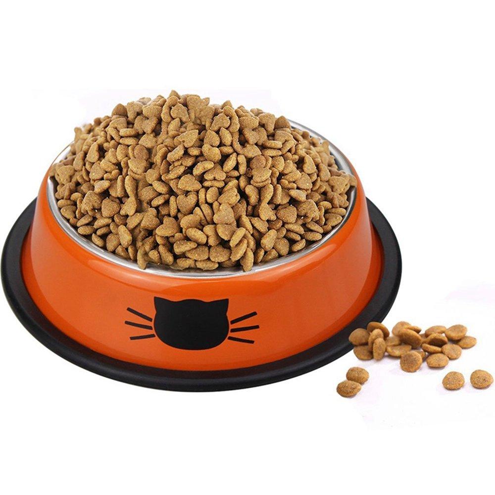 Hihamer bol pour chien et animaux, bols d'eau et nourriture en acier inoxydable avec une base en acier à l'épreuve des éclaboussures et des dérapages. Solution d'alimentation de première qualité pour les petits chiens et chats (Rouge)