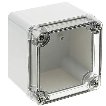 BeMatik - Caja de Conexiones eléctricas de plástico ABS Impermeable IP65 Transparente 95x95x75mm: Amazon.es: Electrónica
