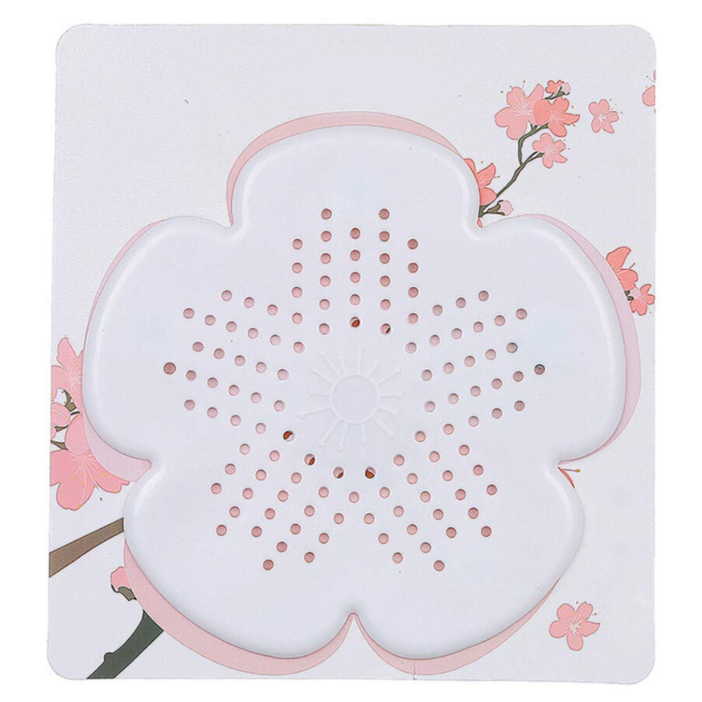 Bathroom Fixtures New Cherry Blossom Sewer Drainage Filter Bathroom Sink Kitchen Plug Anti-blocking Sewage Covers Floor Covering Hair Filter Blue Drain Strainers