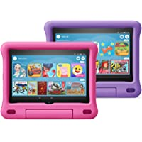 """All-new Fire HD 8 Kids Edition tablet 2-pack, 8"""" HD display, 32 GB, Pink/Purple Kid-Proof Case"""