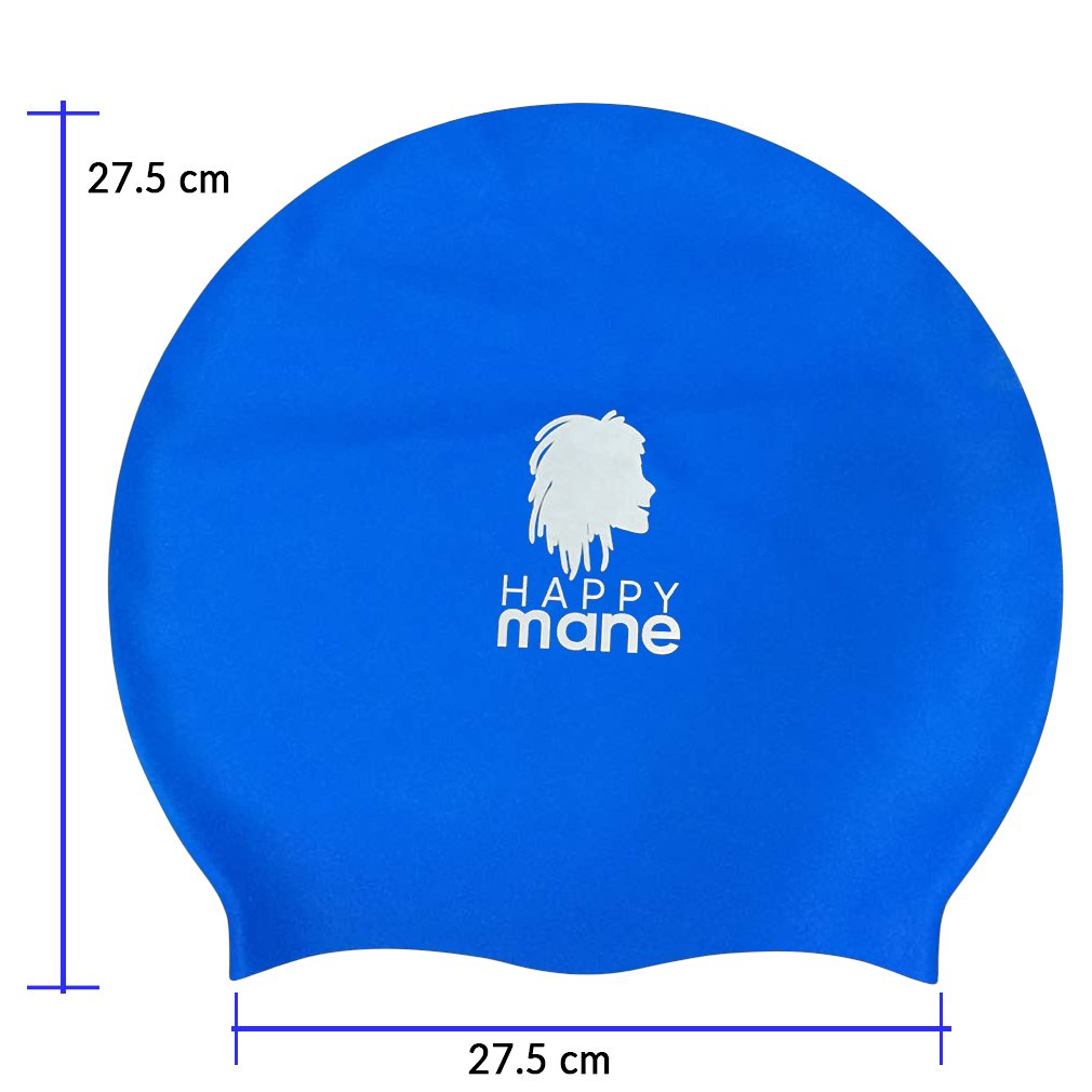 Happy Mane Premium Large Silicone Swimming Cap for Long Hair Dreadlocks, Braids, Weave on, Hair extension, Tick Afro