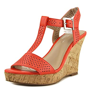 Charles by Charles David Womens Law Open Toe Casual Dark Coral Size 100