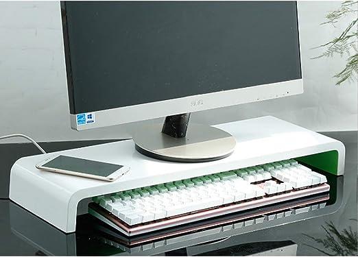 ZXF5 Monitor De Soporte De Madera del Ordenador Portátil Pc TV De Pantalla Realzar La Oficina De Almacenamiento De Escritorio En Casa,Inner Green: Amazon.es: Electrónica