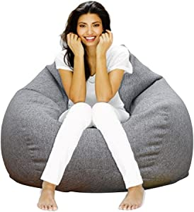 Lmeison Bean Bag Chair Cover(No Filler), Adults Bird's Nest Beanbag Extra Large for Organizing Children Plush Toys or Memory Foam, Home Decor Comfy Seat Sofa Cover for Women Men, (40