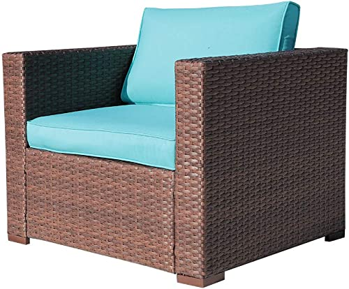 OC Orange-Casual Outdoor Patio Armchair Sofa Chair All-Weather Wicker Furniture