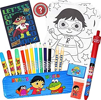 Ryan's ToysReview Coloring Pages featuring Ryan's World coloring page! | 341x342