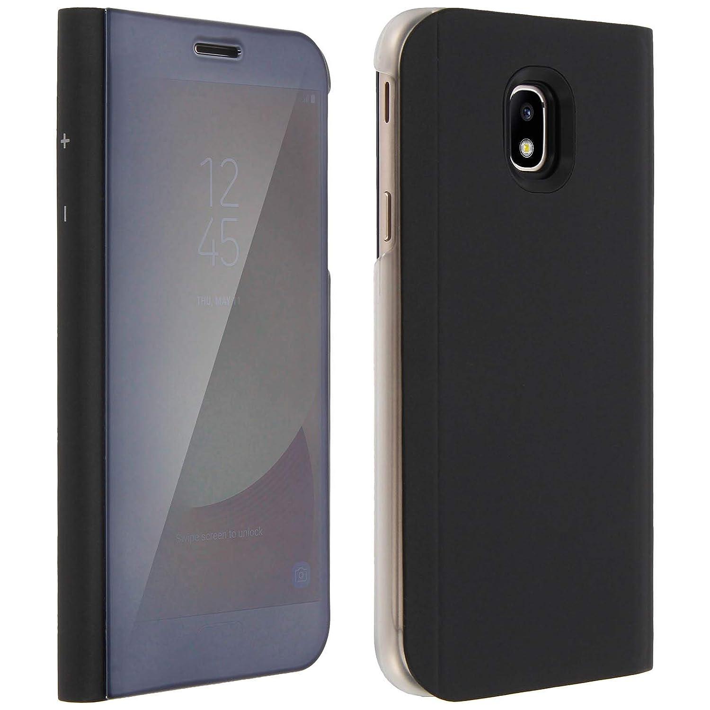 super popular 5f708 1bd0d Smart Mirror Clear View Flip Case for Samsung Galaxy J7: Amazon.co ...