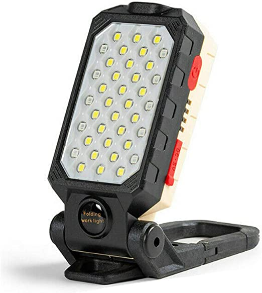 Foldable Magnetic USB Rechargeable LED Work Light COB Inspection Lamp Torch