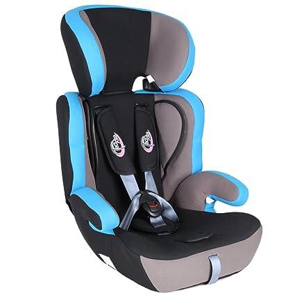 TecTake Silla de coche para niños - Grupos 1/2/3 pesos de 9-36 kg negro/azul