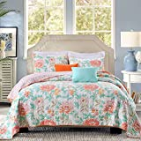 3-Piece Quilt Set 100%Cotton, Bedspread Set, Finely Stitched, Coverlet Bed-cover, Washable Durable, Queen Size