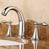 copper kitchen faucet canada YanCui@ Three piece bathroom bath mixer taps-basin taps