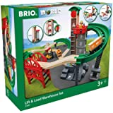 BRIO World - 33887 Lift & Load Warehouse Set | 32 Piece Train Toy with Accessories and Wooden Tracks for Kids Ages 3 and Up